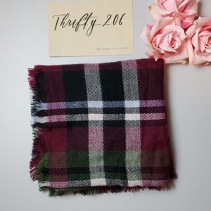 Accessories - Maroon - Green - Black Tartan Blanket Scarf